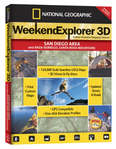 Weekend Explorer 3D - San Diego Area & Anza-Borrego, Santa Rosa - San Shopping Outlet Diego