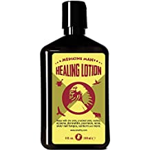 Medicine Man's Healing Lotion - Body and Face Moisturizer - 8 oz - Natural and Organic, Hydrating, Nourishing, Anti-Acne and Anti Fungal Care - Every Body Lotion - Dry, Sensitive, Oily, Itchy Skin