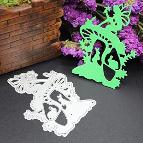 Cutting Dies - Iusun DIY Metal Scrapbooking Stencil Embossing Album Paper Card Craft Gift (K)