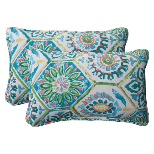 Pillow Perfect Indoor/Outdoor Summer Breeze Corded Rectangul