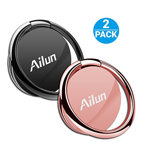 Cellphone Ring Shaped Stand Holder,by Ailun[2 Pack], Universal Cellphone Stand for iPhone X/8/7/6/6s Plus,Galaxy S9/S9+,s8/s8+ S7/S7 Edge,S6/S6 Edge+ and more[Rosegold][Roseblack]