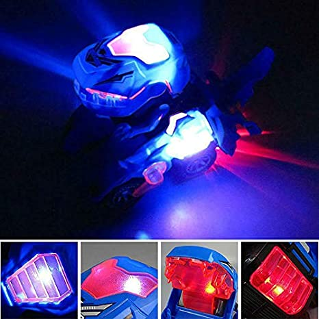 eamqrkt Deformation LED Car Kids Dinosaur Toys Play Vehicles with Light Flashing Music