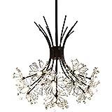 Garwarm Modern Firework Chandeliers,Crystal Dandelion Chandelier Pendant Lighting,Ceiling Lights Fixtures for Living Room Bedroom Restaurant,13-Light,Black