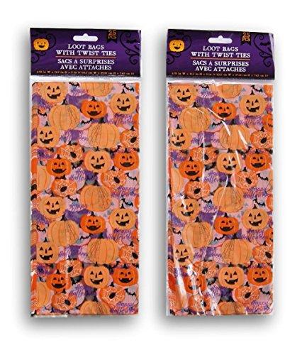 - Halloween Jack o Lantern Themed Loot Treat Bags - 50 Pack