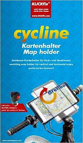 Wanderausrüstung FAHRRAD Landkarte Karte Kartenhalterung Halterung Lenker mit KLETTVERSCHLUSS