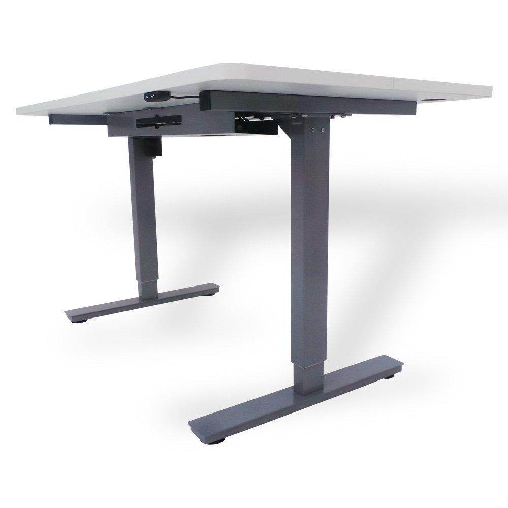 Office Fitness Höhenverstellbarer Schreibtisch High Riser 2e Grey