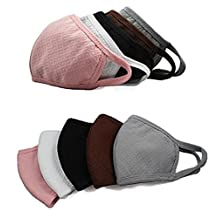 5 Pcs 3 Layers Outdoor Face Anti Bacteria Cotton Activated Carbon Mask