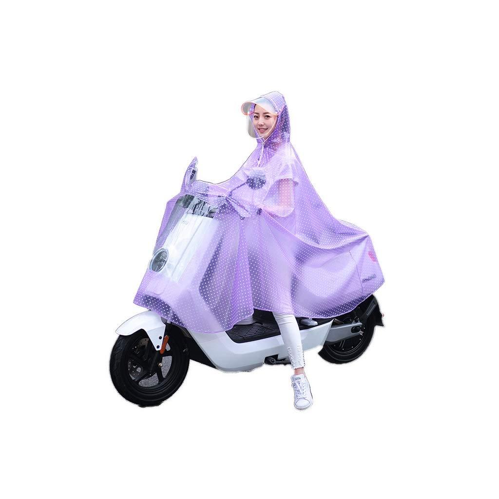 violet XXXXL LXRZLS Imperméable Moto - Poncho en Plastique - Housse de Pluie Unisexe - Bicyclettes, Voitures électriques - Pourpre (Couleur   violet, Taille   XXXL)