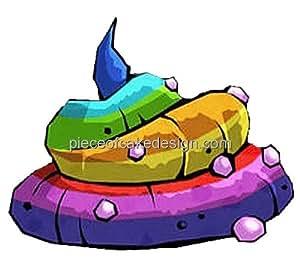 2 Quot Rainbow Unicorn Poop Birthday Edible Image Cake