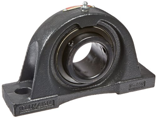 """Sealmaster NP-32 Pillow Block Ball Bearing, Non-Expansion Type, Normal-Duty, Regreasable, Setscrew Locking Collar, Felt Seals, Cast Iron Housing, 2"""" Bore, 2-1/2"""" Base to Center Height, 6-3/4"""" Bolt Hole Spacing Width from Sealmaster"""