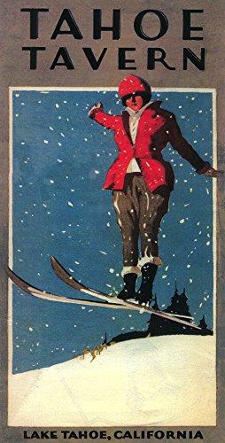 - Lake Tahoe, California - Tahoe Tavern - Vintage Promotional Poster (9x12 Art Print, Wall Decor Travel Poster)