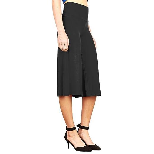KINDOYO Nuevo Mujer Ocio Relajado Alta Cintura Pantalones Ancho  Amazon.es   Ropa y accesorios 778fb6a0e74f