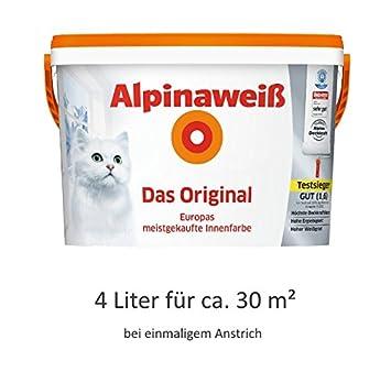 Alpinaweiß Das Original 4 Liter Weiße Wandfarbe Höchste