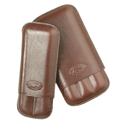 Cuban Crafters Sienna Brown Leather Cigar Cases 3 ()