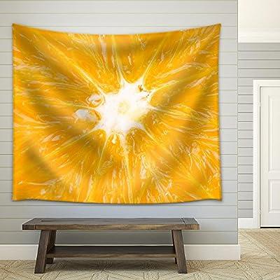 Quality Artwork, Elegant Design, Close Up Orange Fruit Background Fabric Wall