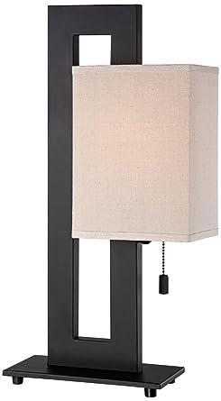 Espresso Bronze Floating Square Table Lamp