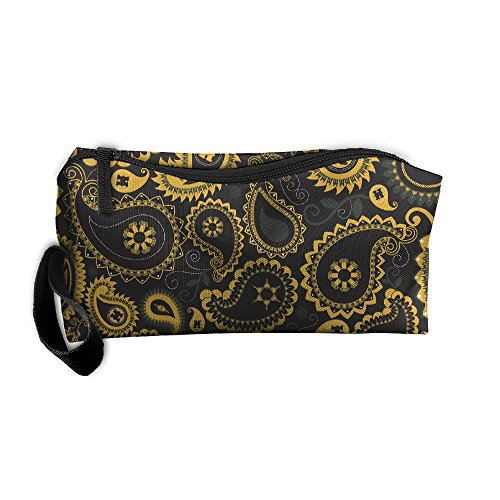 TDynasty Mizzou Paisley Pattern Multifunction Portable Mini Makeup Bag Cosmetic Bag For Home Office Travel Camping Sport Gym Outdoor - Mini Paisley Pattern