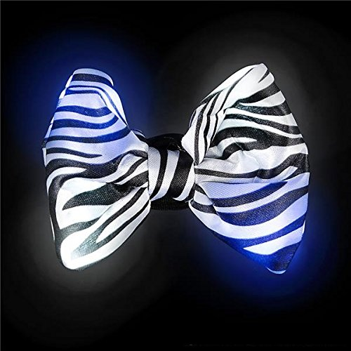 by Katzco Kayco USA Light Up Bow Tie Animal Print 3 Pack for Party/'s /& Special Events