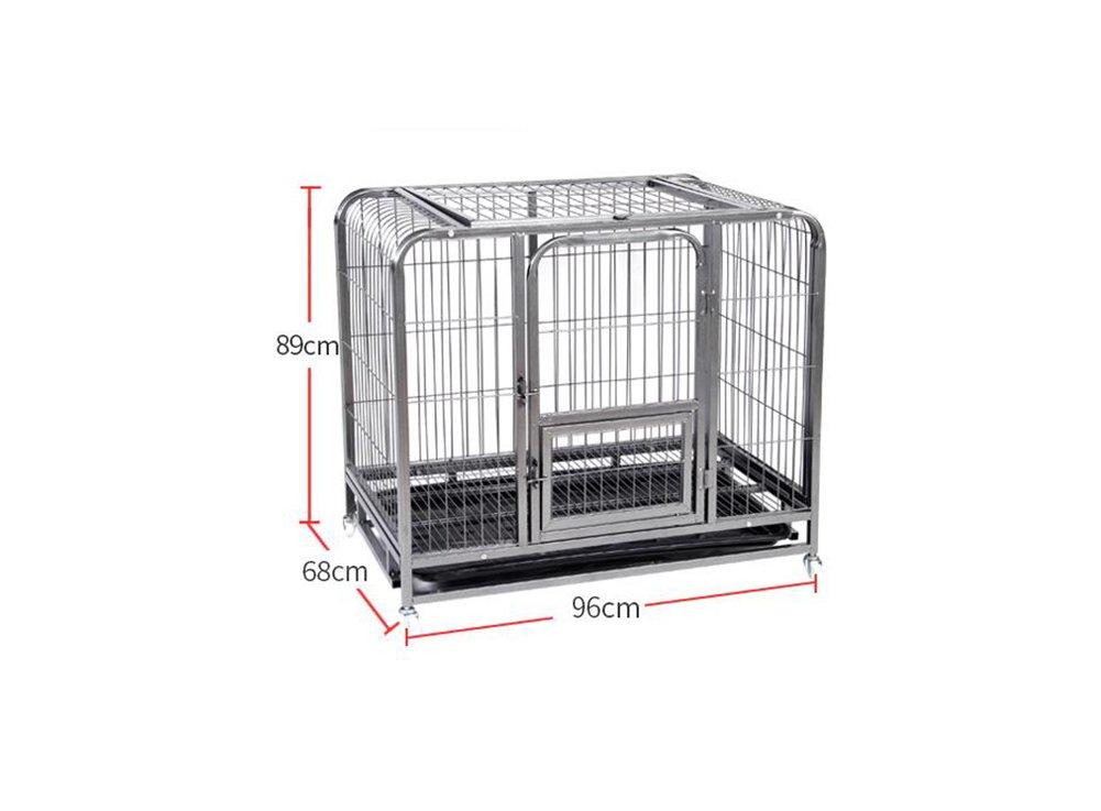 Jaulas para perros, jaula de perro medio Jaula de hierro Jaula ...