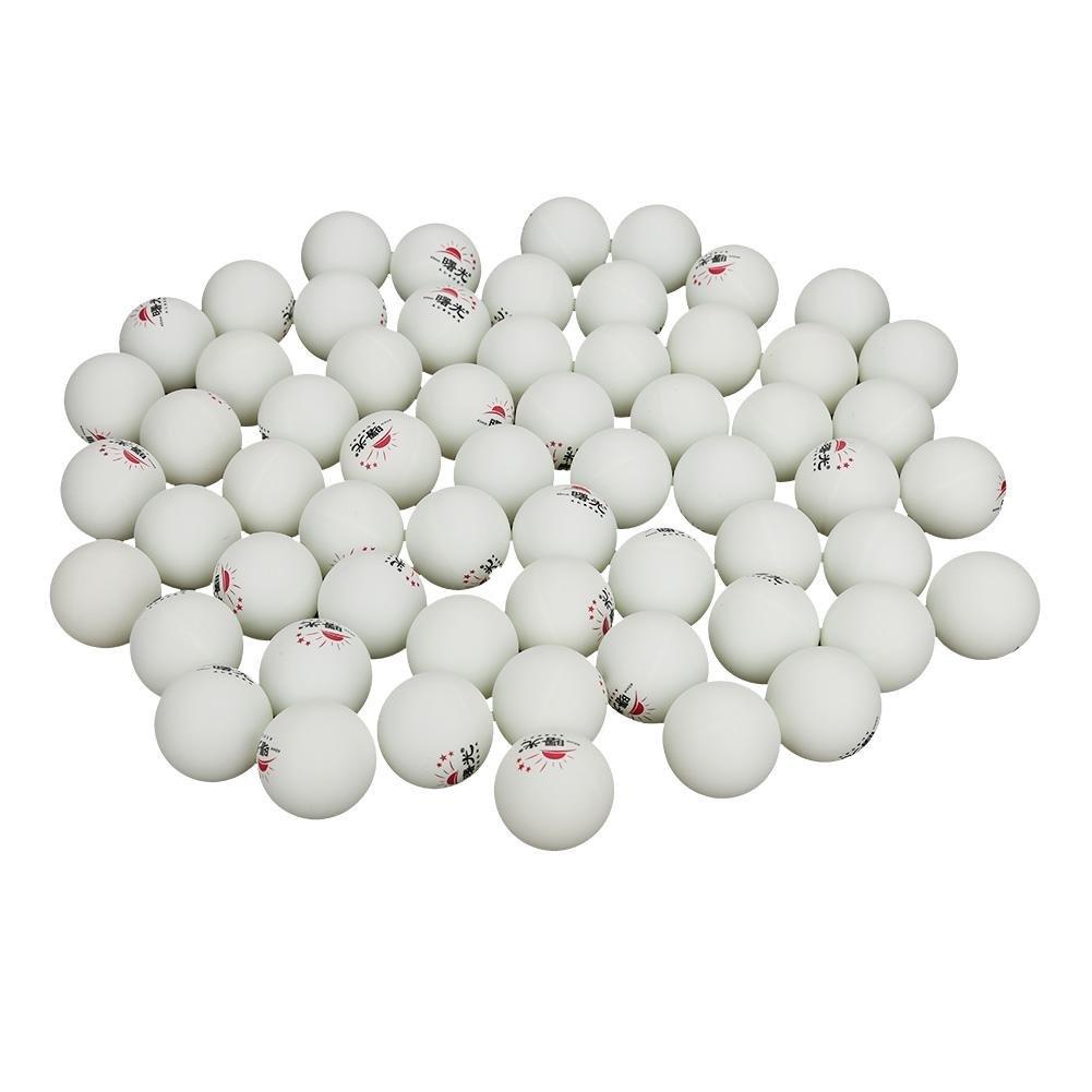 Acogedor Tisch Tennis Ping Pong Bälle, 60Stück, 3-Sterne-40mm, Ideal für Tisch Tennis & Tischtennis Turnieren, Advanced Training Verordnung Bälle–Orange/weiß 60Stück 3-Sterne-40mm Orange