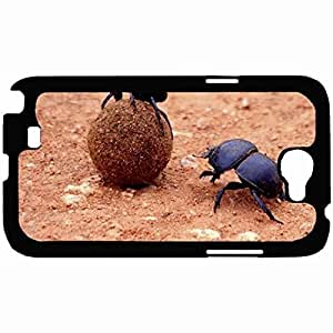 New Style Customized Back For SamSung Note 2 Case Cover Hardshell , Back Dung Beetle Personalized For SamSung Note 2 Case Cover