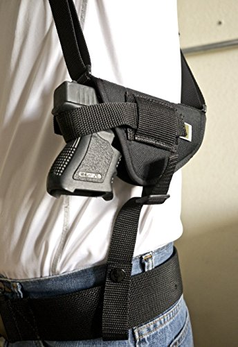 OutBags USA NSH30 (RIGHT) Nylon Horizontal Shoulder Holster w/Double Mag Pouch. Family owned & operated. Made in USA