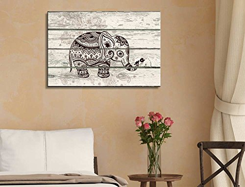Decorative and Patterned Baby Elephant Wall Decor