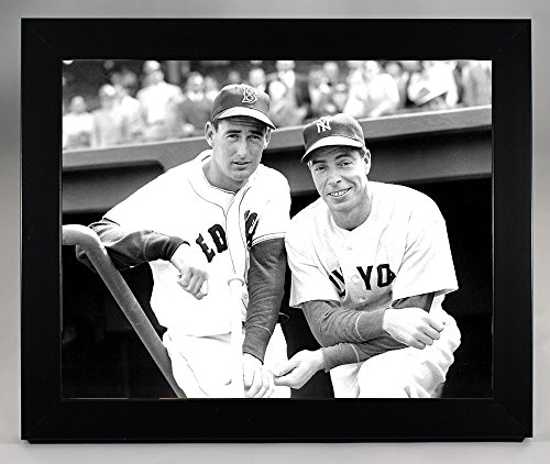 Framed New York Yankees Joe DiMaggio and Boston Red Sox Ted Williams Together at Fenway Park in 1951 8x10 Photograph ()
