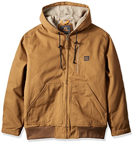 Walls Men's Super Duck Hooded Bomber Jacket, Pecan, M