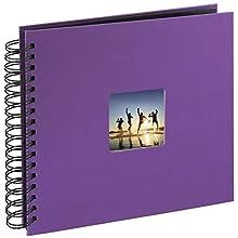 Hama Fine Art Álbum de Fotos con Espiral (24 x 17 cm), Púrpura, 28 x 24 cm