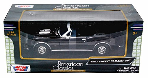1967 Chevy Camaro Ss (1967 Chevy Camaro SS, Burgundy - Motormax 73301 - 1/24 scale Diecast Model Toy Car)