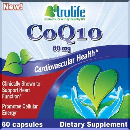 60mg CoQ10 cliniquement prouvé pour soutenir la fonction Foyers, stimule l'énergie cellulaire, la santé cardiovasculaire, Q10 Dietary Supplement de Trulife