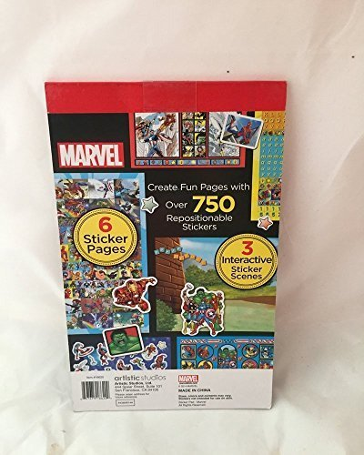 Artistic Studios Marvel Super Heroes Sticker Activity Pad with Play Scenes