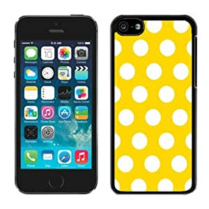 linJUN FENGPolka Dot Yellow and White Iphone 5c Cases Black Cover for Girls Amazing Cell Phone Protector
