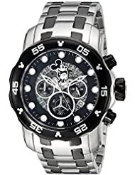 Invicta Mens Disney Limited Edition Quartz Stainless Steel Casual Watch, Color:Silver-Toned (Model: 23767)