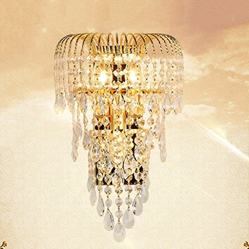MOMO Luxury K9 Crystal Wall Lamp Led Gold Living Room Bedroom Bedside Dining Room Wall Lamp European Lighting by MOMO (Image #1)