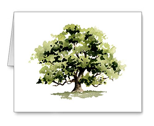 Oak Tree - Set of 10 Note Cards With Envelopes