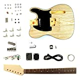T Style Electric Guitar DIY Kit Unfinished Project GK-STL-100BNA with Ash Top