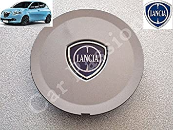 1 Coppetta Tapacubos Lancia Ypsilon Y A partir de 2011 Escudo original trago Tapón Llanta de aleación gris antracita: Amazon.es: Coche y moto
