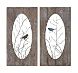 Cheap Deco 79 Wood Wall Panel, 2 Assorted, 18 by 36″