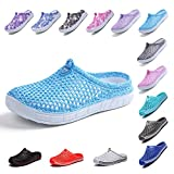 OUYAJI Garden Clog Shoes Beach Footwear Water bash Womens Summer Slippers Sky Blue 39
