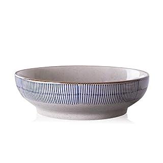 YMXLJF Cocina y Comedor Cuenco de Sopa de Gran tamaño Retro tazón de Hotel Hotel Plato de Fideos de Cangrejo Cuenco de Pescado cocido Plato Grande Cuenco de cerámica (Tamaño : 10 Inches)