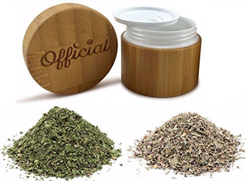 Official Travel Stash Jar, Small Smell Proof Container for Herbs, Tobacco, Spices Salts and More (2g Jar)
