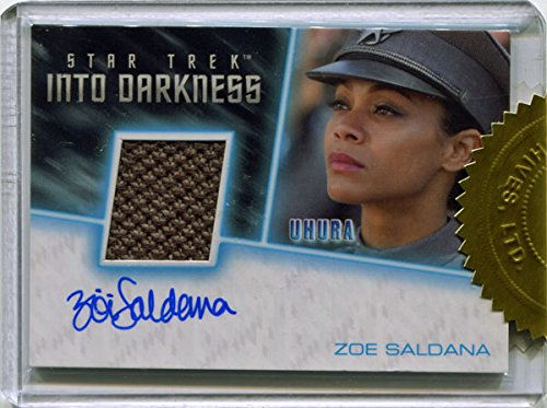 Star Trek Beyond Relic Autograph Costume Card Zoe Saldana As