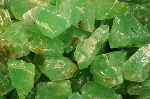 Fantasia Materials: 1 lb AAA Grade Green Calcite Rough - (Select Assorted or Specific Color) - Premium Raw Natural Crystals for Cabbing, Cutting, Tumbling, Polishing, Wire Wrapping, Wicca & ()