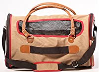 Airline Approved Pet Carrier for Small Dog Cat Puppies Soft Sided Deluxe Carriers Tote Bag with Nametag For Pets Up To 20 Pounds