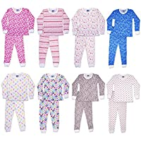 SNOOzZZ'N Girls Long Sleeve Crew Neck & Long Pant Thermal Underwear 2 Piec Set