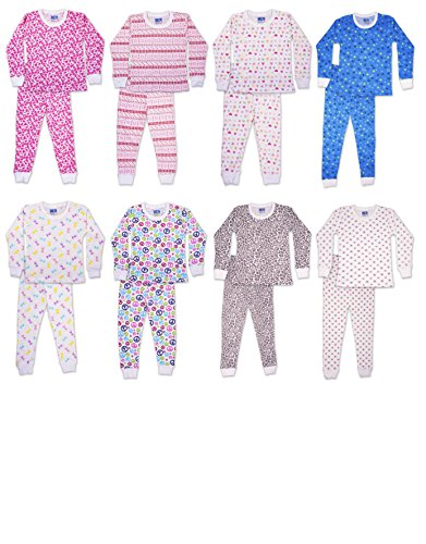 SNOOzZZ'N Girls Long Sleeve Long Pant Thermal Underwear Set - Pack of 3 Sets 6X