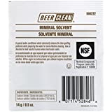 Diversey Beer Clean Mineral Solvent, No Odor Glass Cleaner, (0.25-Ounce, 100-Pack)