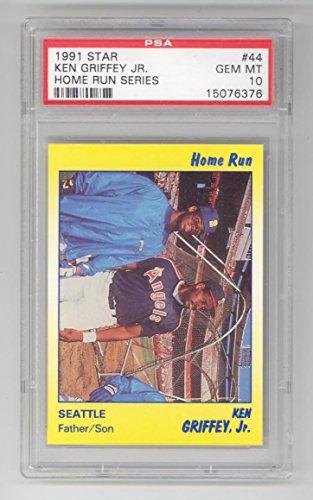 1991 Star Ken Griffey Jr PSA 10 Home Run Series #44 (Low pop. Only 8) Baseball Card Seattle Mariners